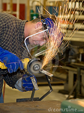 Free Metal Shop - Grinder Royalty Free Stock Photo - 5760145