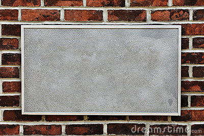 Metal Sign on Brick Wall