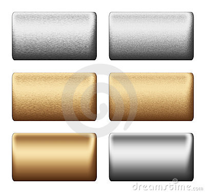Metal silver gold board, background to desig
