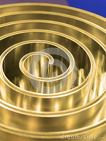 Free Metal Spiral Polished Metal. Shallow Depth Of Field. Stock Photography - 74302762