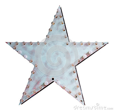 Free Metal Star With Lamps Stock Images - 92409014
