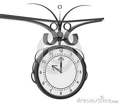 Metal street clock
