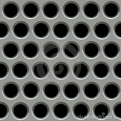 Metal surface with holes.