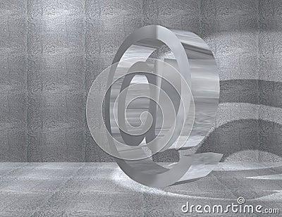 Metal at symbol