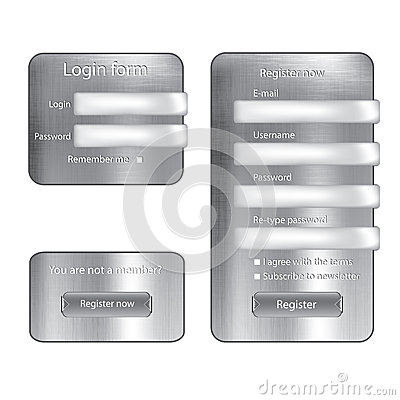 Metal texture  login form