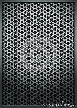 Metal texture mesh grid