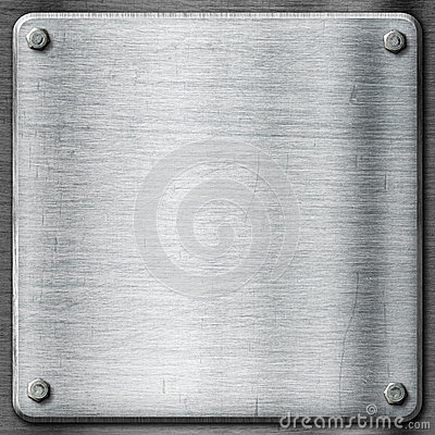 Free Metal Texture Template Background. Steel Plate. Royalty Free Stock Image - 33435486