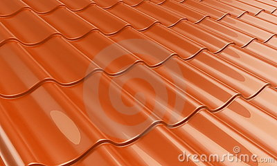 Metal tile orange