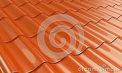 Metal tile orange