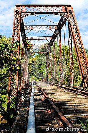 Metal train bridge
