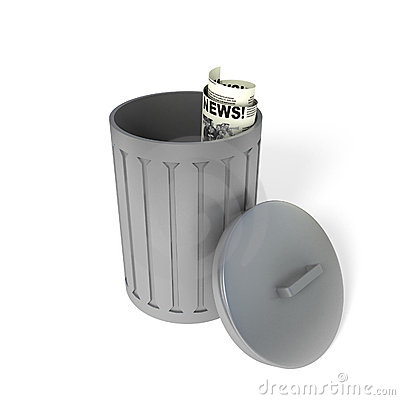 Metal trash can