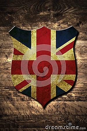 Metal United Kingdom shield