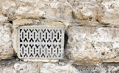 Metal vent detail limestone architecture stock photo for Time saver details for exterior wall design