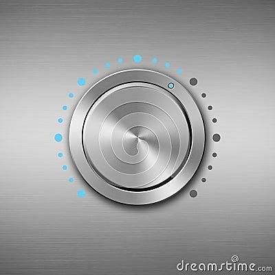 Free Metal Volume Button Stock Photography - 66568772