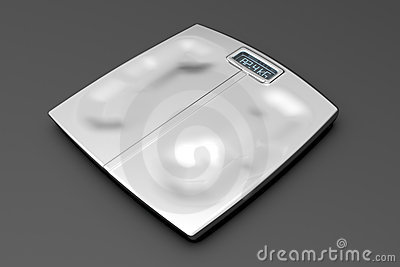 Metal weight scale with footprints