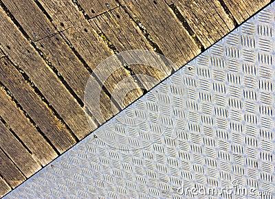 Metal and wood floor