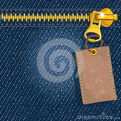 Free Metal Zipper On Denim Background Royalty Free Stock Images - 26182279