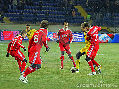 Metalist - Debreceni UEFA football match Editorial Stock Photo
