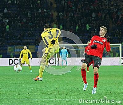 Metalist Kharkiv vs Bayer Leverkusen match Editorial Photo
