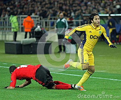 Metalist Kharkiv vs Bayer Leverkusen match Editorial Photo