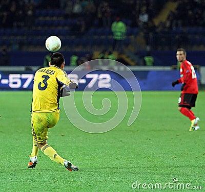 Metalist Kharkiv vs Bayer Leverkusen match Editorial Photography