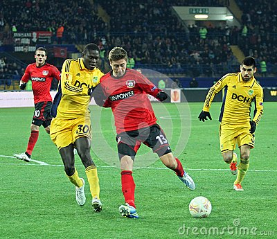 Metalist Kharkiv vs Bayer Leverkusen match Editorial Stock Photo