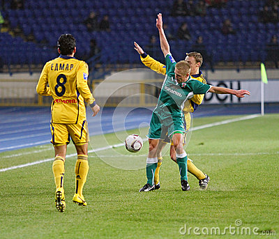 Metalist Kharkiv vs Obolon Kyiv football match Editorial Photo