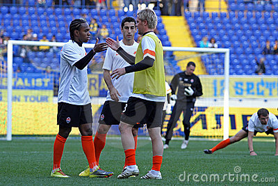 Metalist Kharkiv vs Shakhtar football match Editorial Stock Image