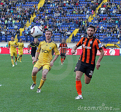 Metalist Kharkiv vs Shakhtar football match Editorial Stock Photo