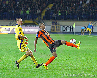 Metalist Kharkiv vs Shakhtar football match Editorial Photography