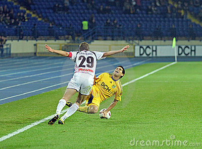 Metalist Kharkiv vs Volyn Lutsk football match Editorial Photography