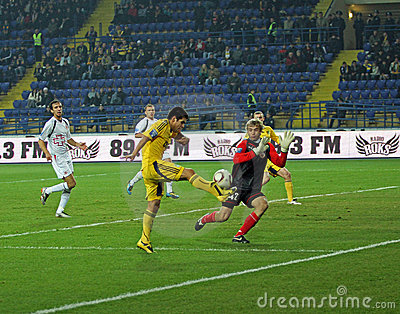 Metalist Kharkiv vs Volyn Lutsk football match Editorial Photo