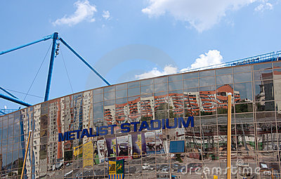 Metalist Stadium, Kharkov, Ukraine. Editorial Stock Photo