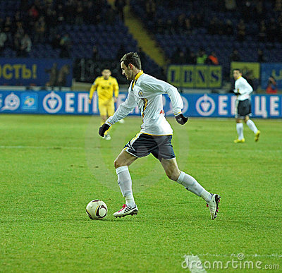 Metalist vs. Metallurg Donetsk football match Editorial Stock Photo