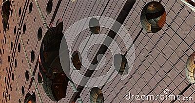 Metall 3d-fraktal i modern stil Modern samtida konst royaltyfri illustrationer
