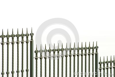 Metall fence