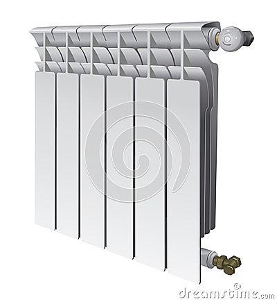 Metall radiator for panel heating of house