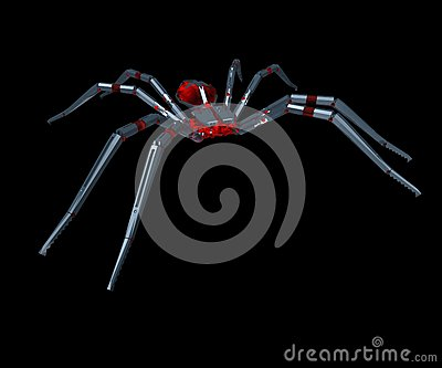 Metall spider - 3D.