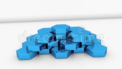 Metallbienenwabensockel ist- auf der Oberfläche, die für Geschäft, 3d kreativ ist, das Hintergrund überträgt stock abbildung
