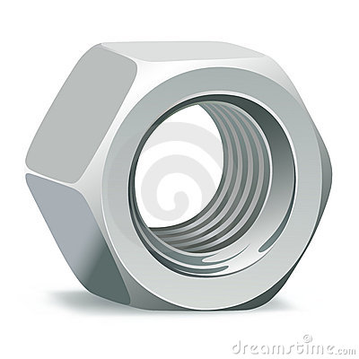Metallic 3D nut
