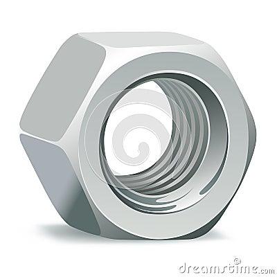 Metallic 3D nut