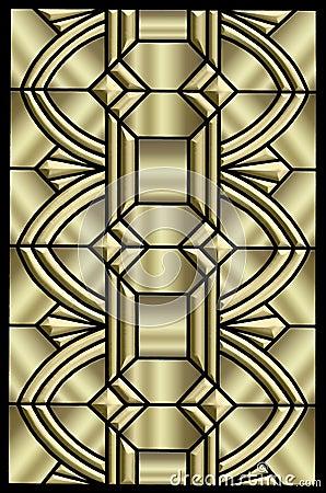 Metallic Art Deco Design Stock Images Image 8054444