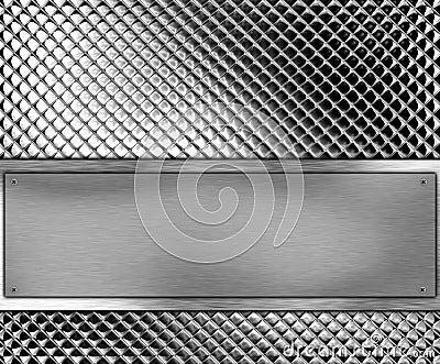 Metallic banner