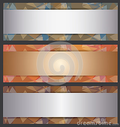 The Metallic Banner Abstract Template