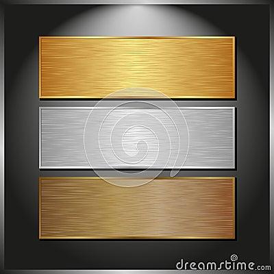 Free Metallic Banners Royalty Free Stock Photos - 36184938