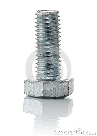 Metallic bolt with thread