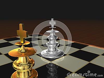 Metallic Chess kings