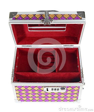 Metallic chest box for jewelry