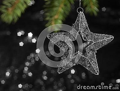 Metallic Christmas deco star