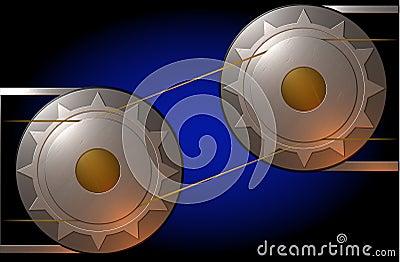 Metallic cogs